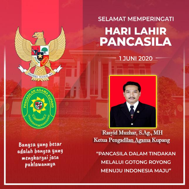 Selamat Hari lahir Pancasila 01 Juni 2020